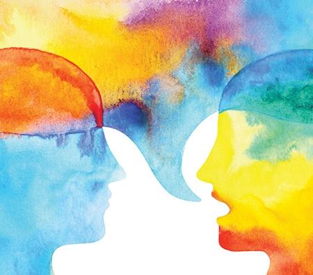 Disegno di due persone che parlano - Terapia Congnitivo-Comportamentale